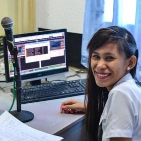 A local DJ at a radio station in the Philippines, where Projects Abroad places interns doing Journalism internships abroad.